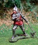 English Man At Arms 2 w/halberd and sword